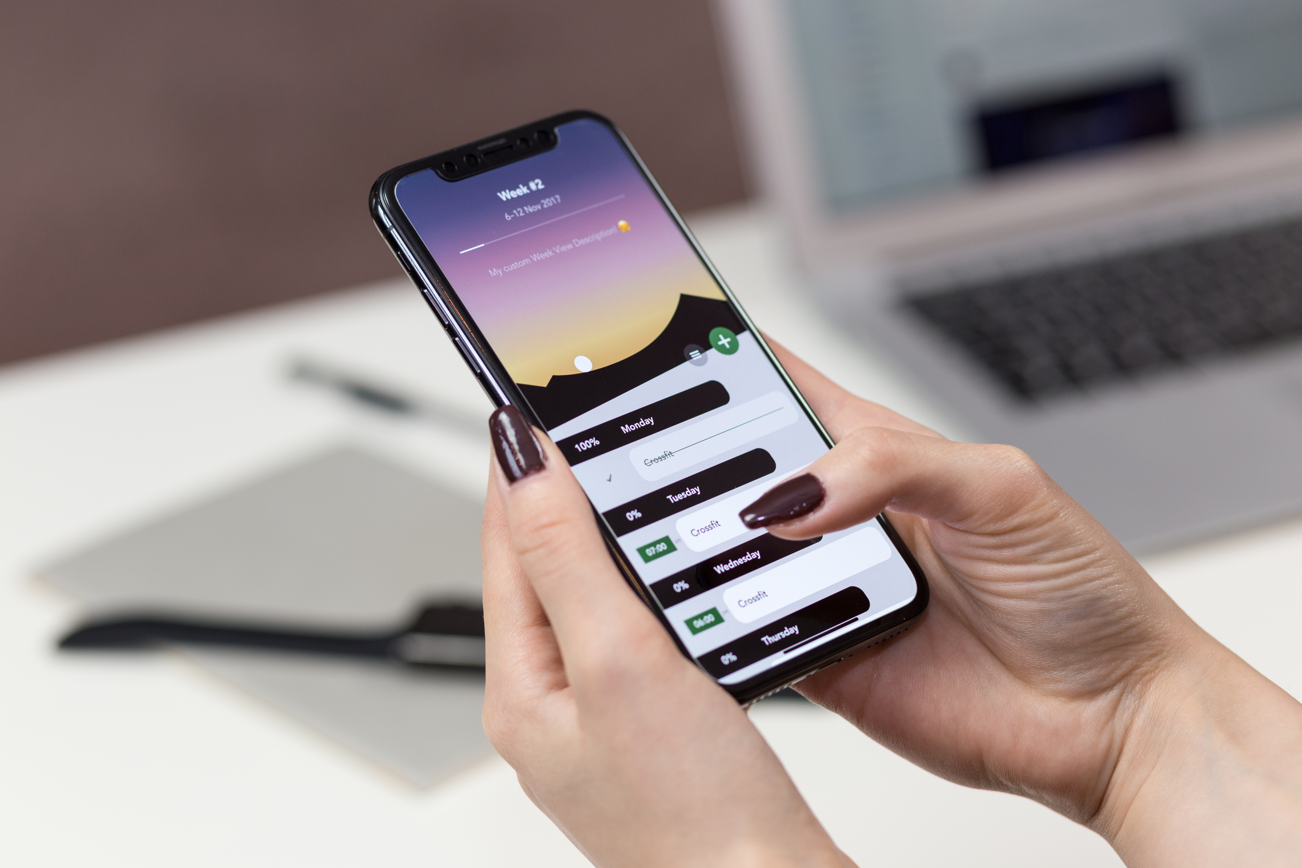 Birthday Background Wallpaper Hd Person Holding Silver Iphone X Turned On 183 Free Stock Photo