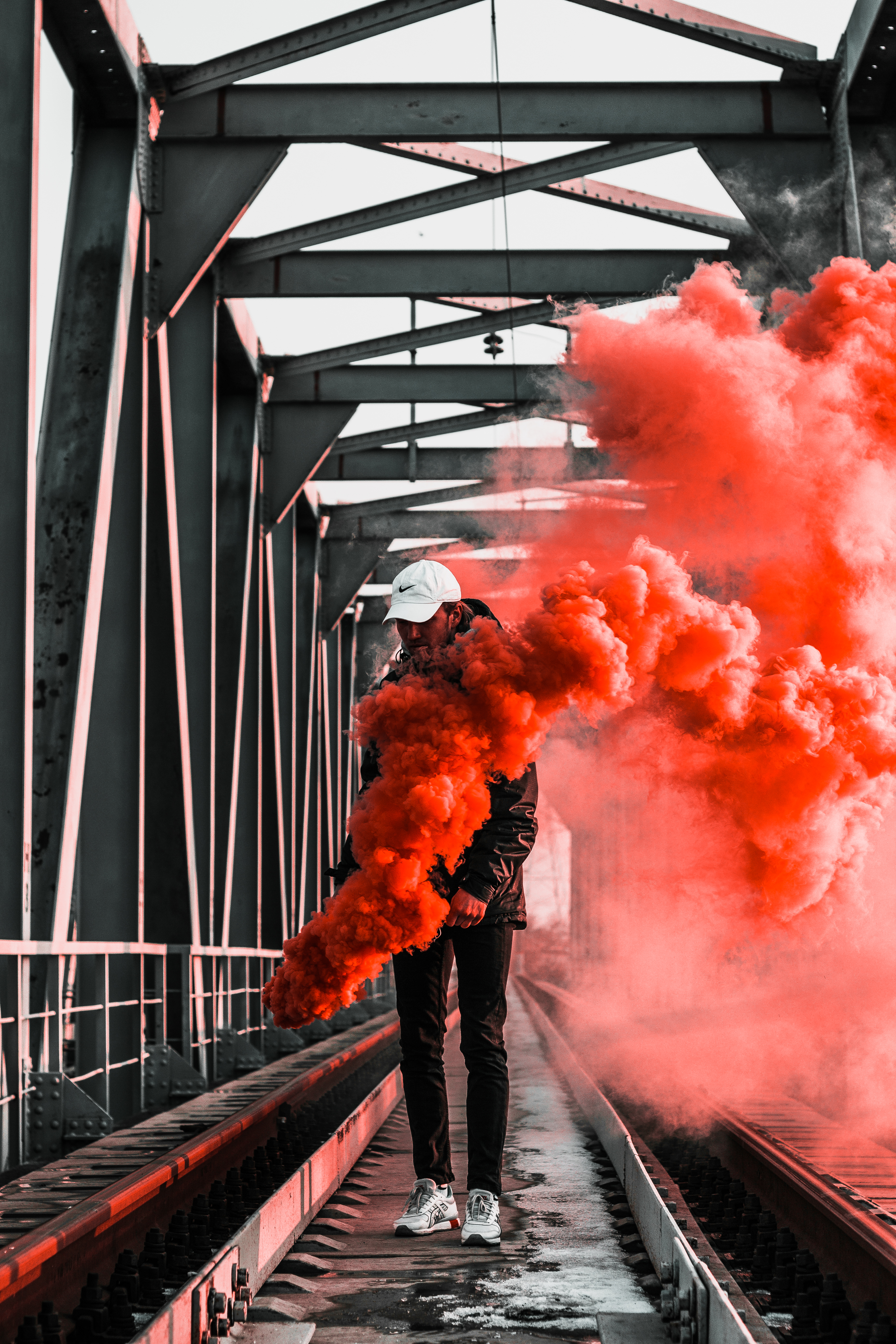 The Cars Wallpaper For Birthday Hooded Figure Holding Red Flare 183 Free Stock Photo