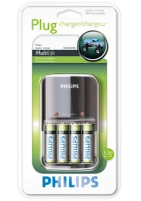 Batterie Aa Multilife Battery Charger Scb2025nb 05 Philips