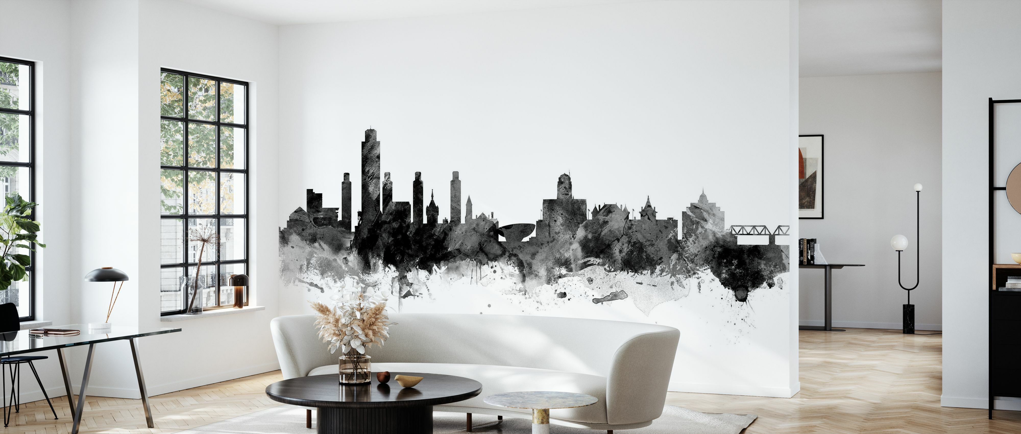 Albany New York Skyline Black Trendige Fototapete Photowall