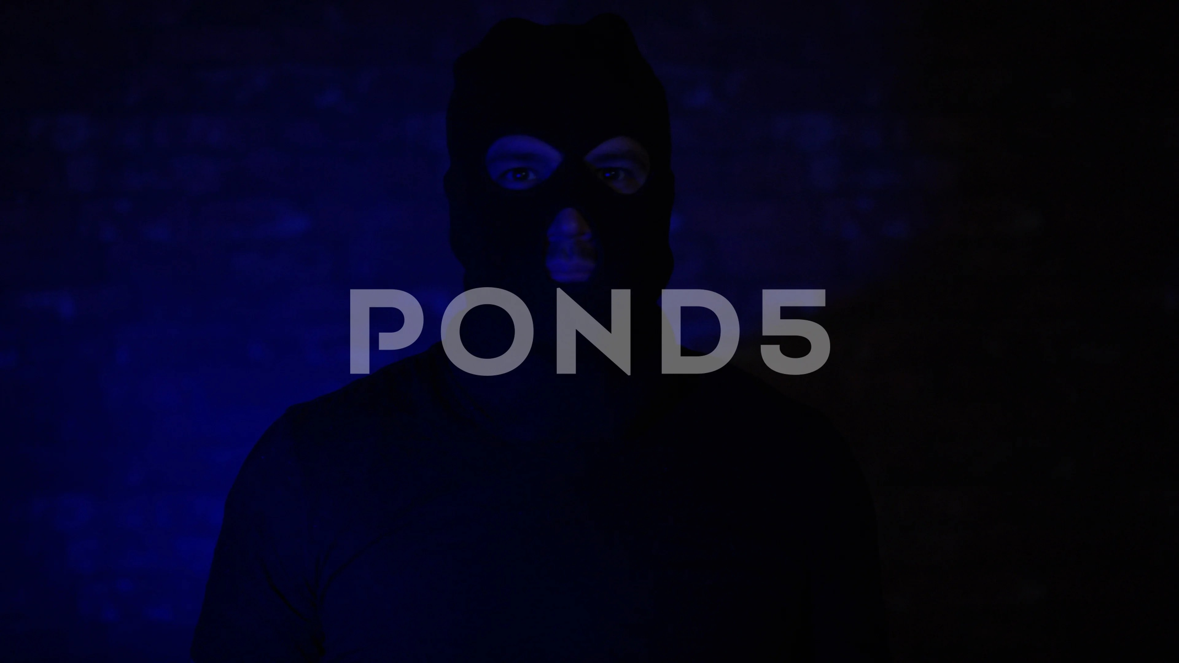 Burglar Taking Off Mask With Police Ligh Stock Video Pond5