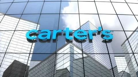 Video Editorial, Carter\u0027s Inc logo on glass building ~ #87976904