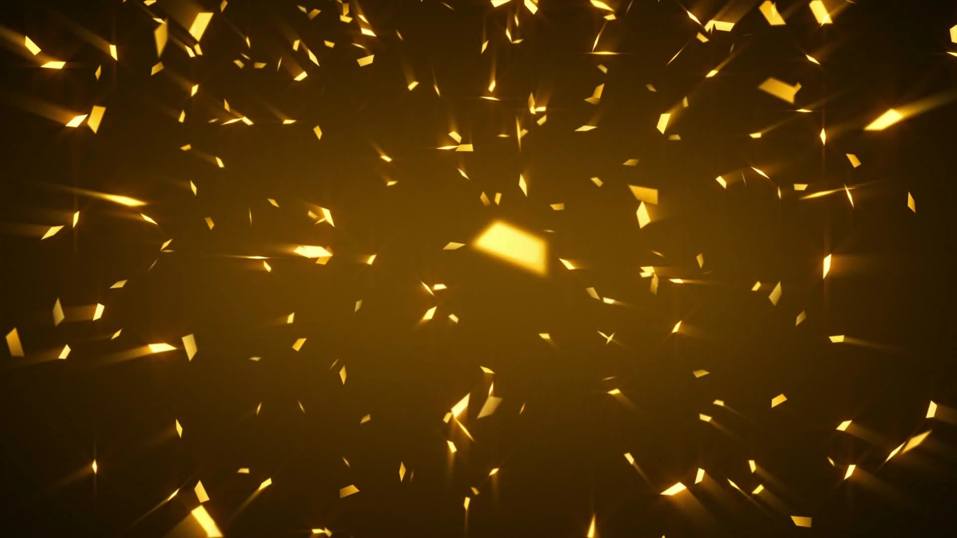 Animated 3d Wallpaper Gifs Looping Stock Video Gold Shiny Confetti Background Loop 12377504