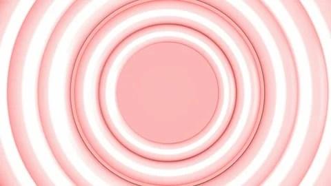 Pastel pink circles animation intro Green screen and seamless loop