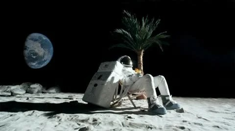 Screen Scratch Wallpaper Hd Slo Mo Ws Lockdown Of An Astronaut On The Moon Sitting