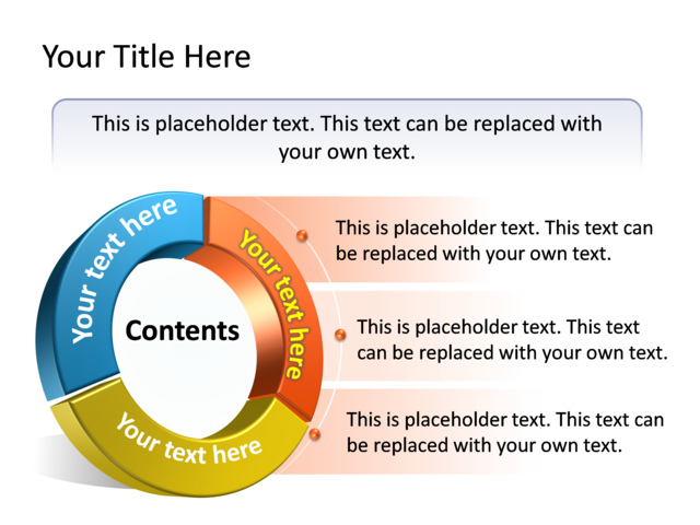 PowerPoint Slide - Content Strategy Diagram 3D - Multicolor - 3 - strategy powerpoint presentations