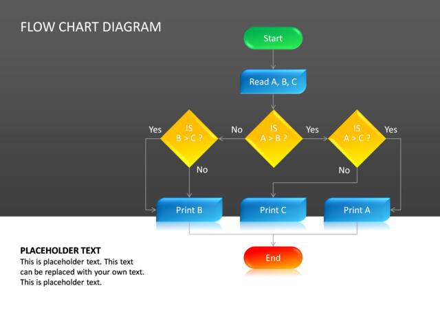 PowerPoint Slide - Flow Chart Diagram - 3D - Multicolor - cg-24