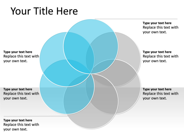 venn diagram with 6 circles