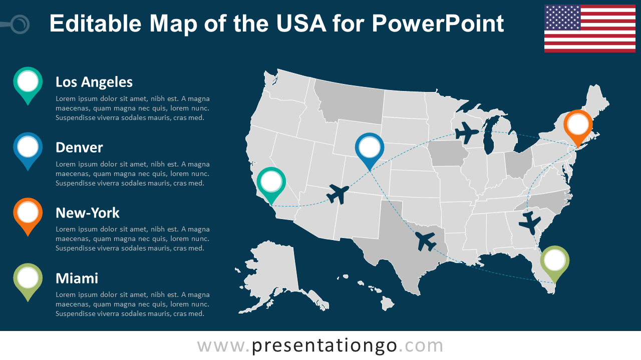 united states map for powerpoint