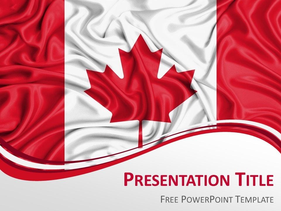 Canada Flag PowerPoint Template - PresentationGO
