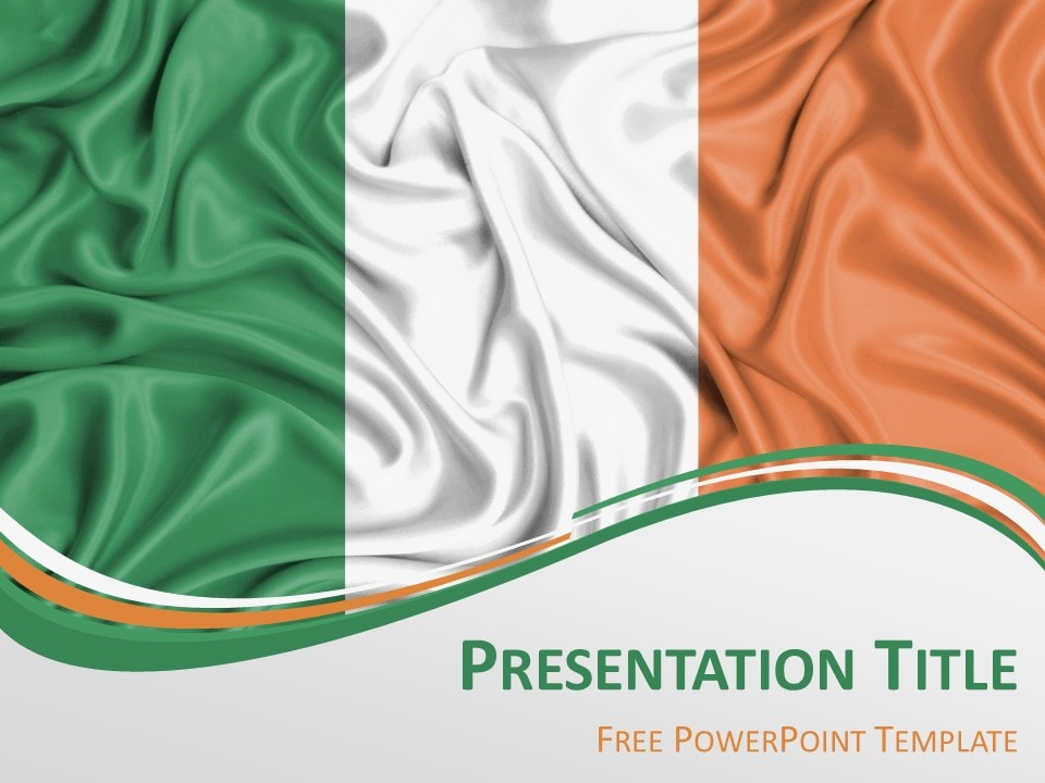 Ireland Flag PowerPoint Template - PresentationGO