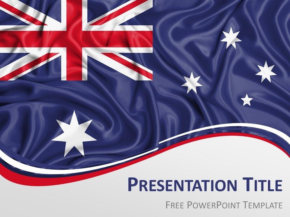 Australia Flag PowerPoint Template - PresentationGO
