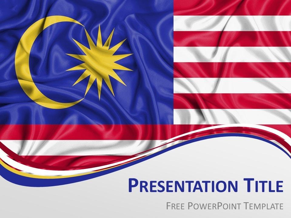 Malaysia Flag PowerPoint Template - PresentationGO