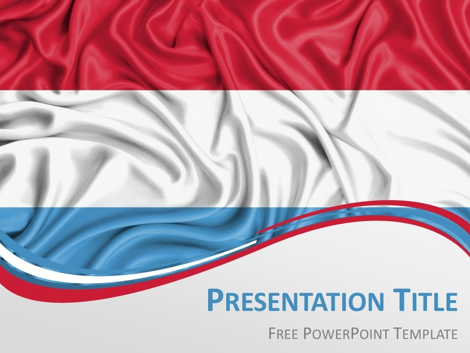 Luxembourg Flag PowerPoint Template - PresentationGO