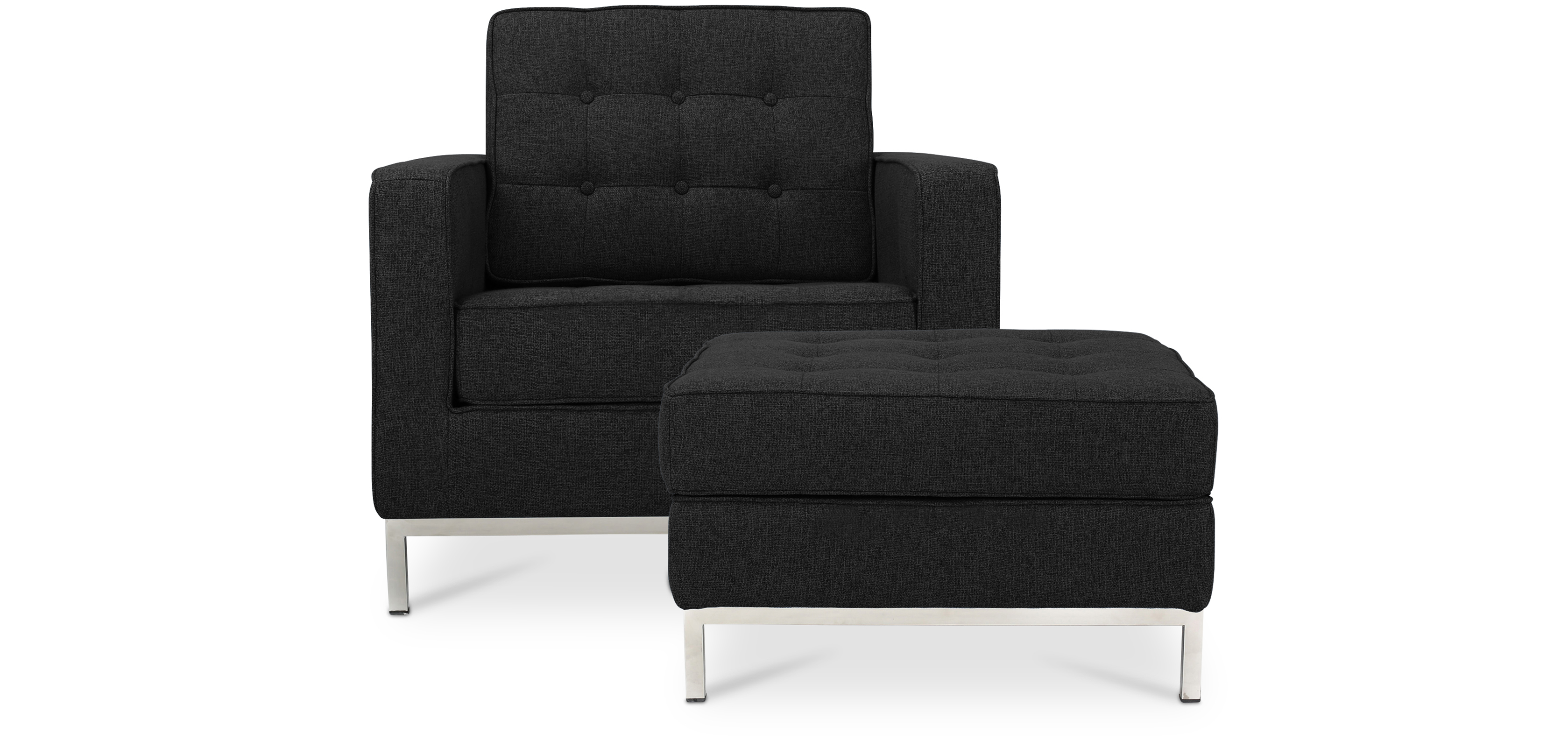 Fauteuil Ottoman Fauteuil Knoll Avec Ottoman Assorti Style Florence Knoll