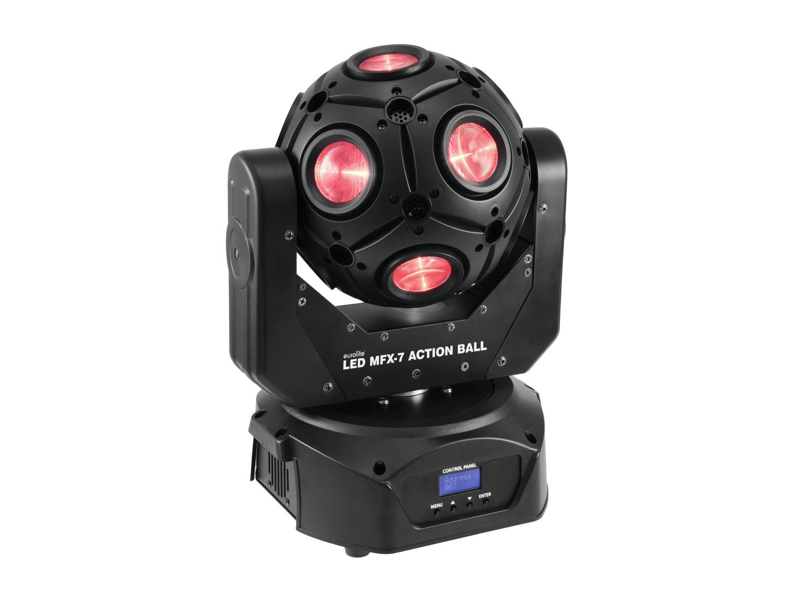 Action Platenspeler Eurolite Led Mfx 7 Action Ball 12 X 15w Rgbw