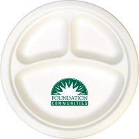 255mm Compostable Compartment Paper Plates are ideal for ...