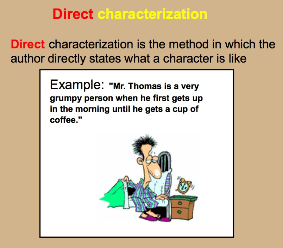 Direct And Indirect Characterization - Lessons - Tes Teach