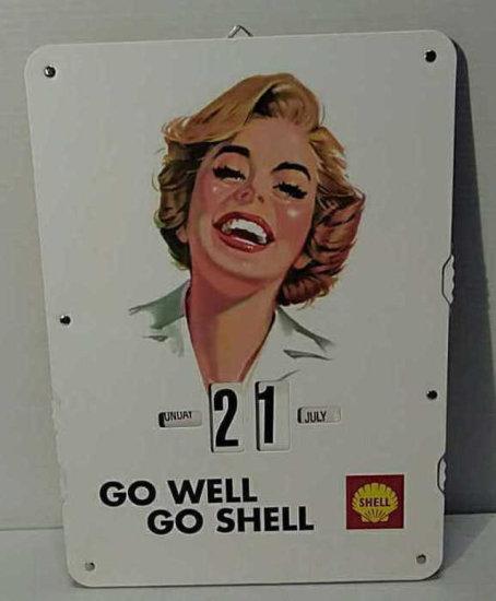 Shell Changeable Calendar Mari Auctions Online Proxibid