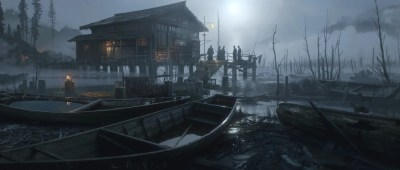 Awesome Ghost of Tsushima Artwork Steps Out of the Shadows Ahead of E3 2018 - Push Square
