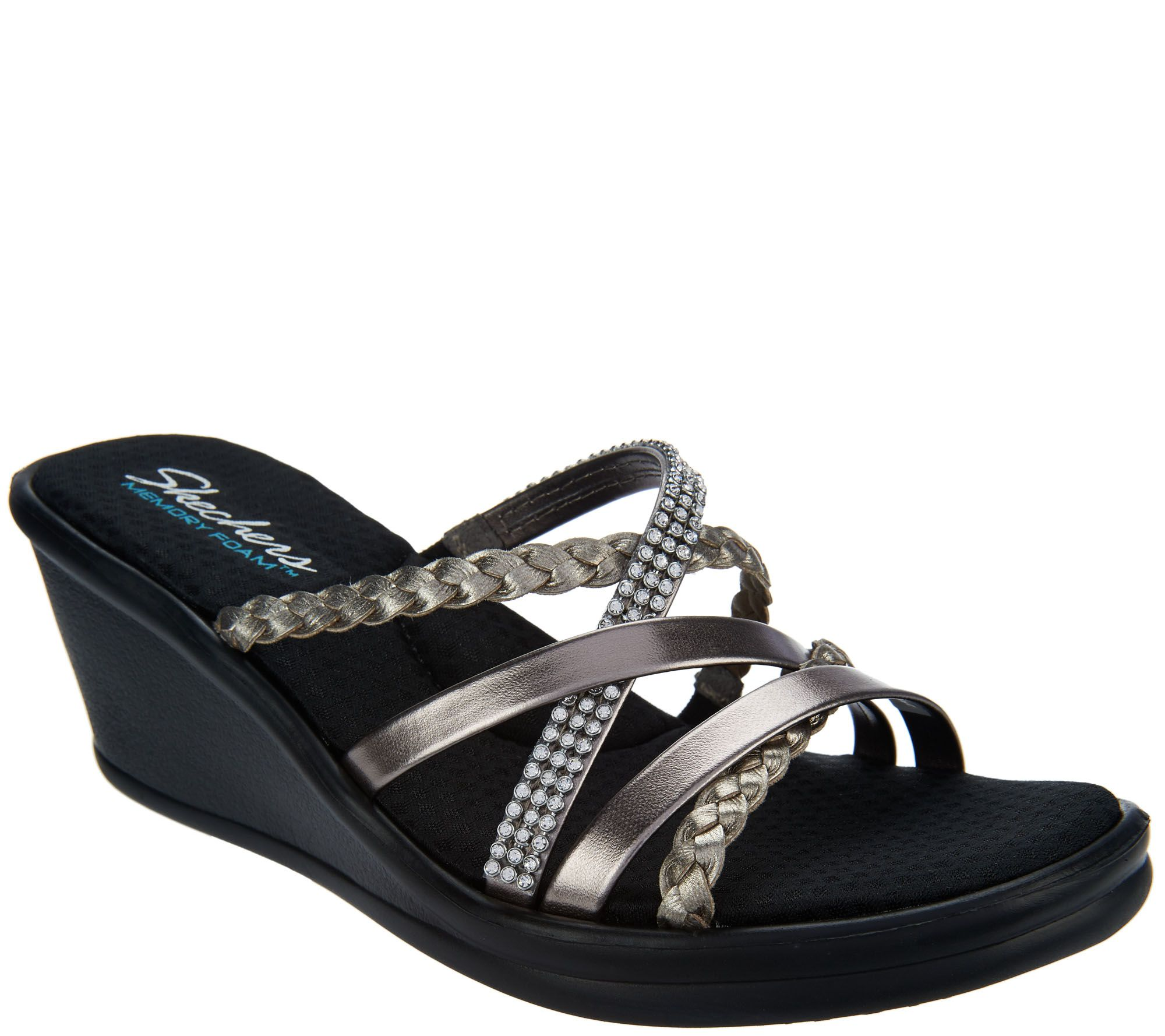 Skechers multi strap open toe wedge sandals wild child a287762