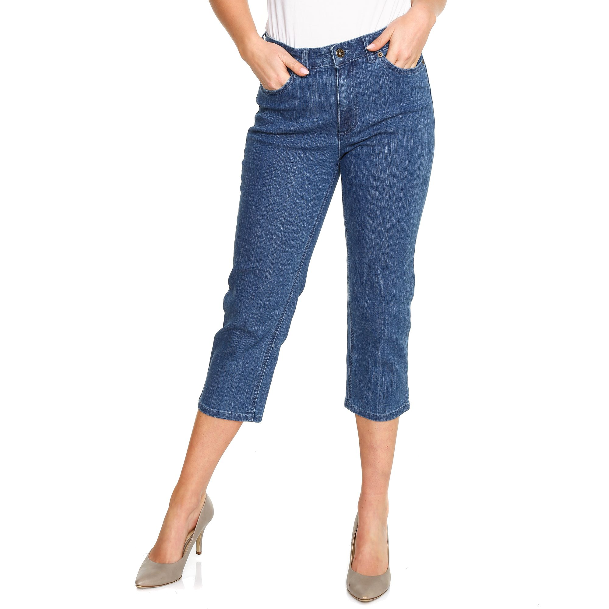 Qvc Garten Chic Denim And Co Jeanshose Dora 7 8 Länge 5 Pocket Style Page