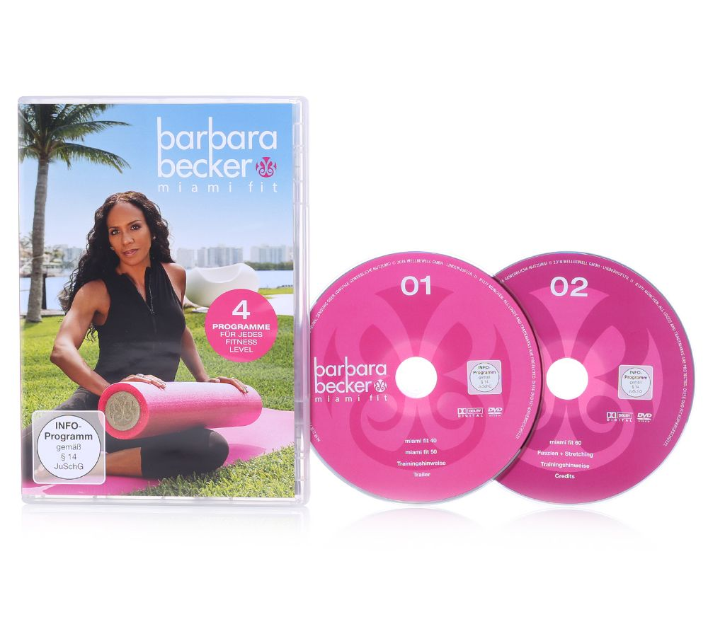 Barbara Becker Kollektion Barbara Becker Miami Fit Fitness Programm Doppel Dvd 125min Qvc De