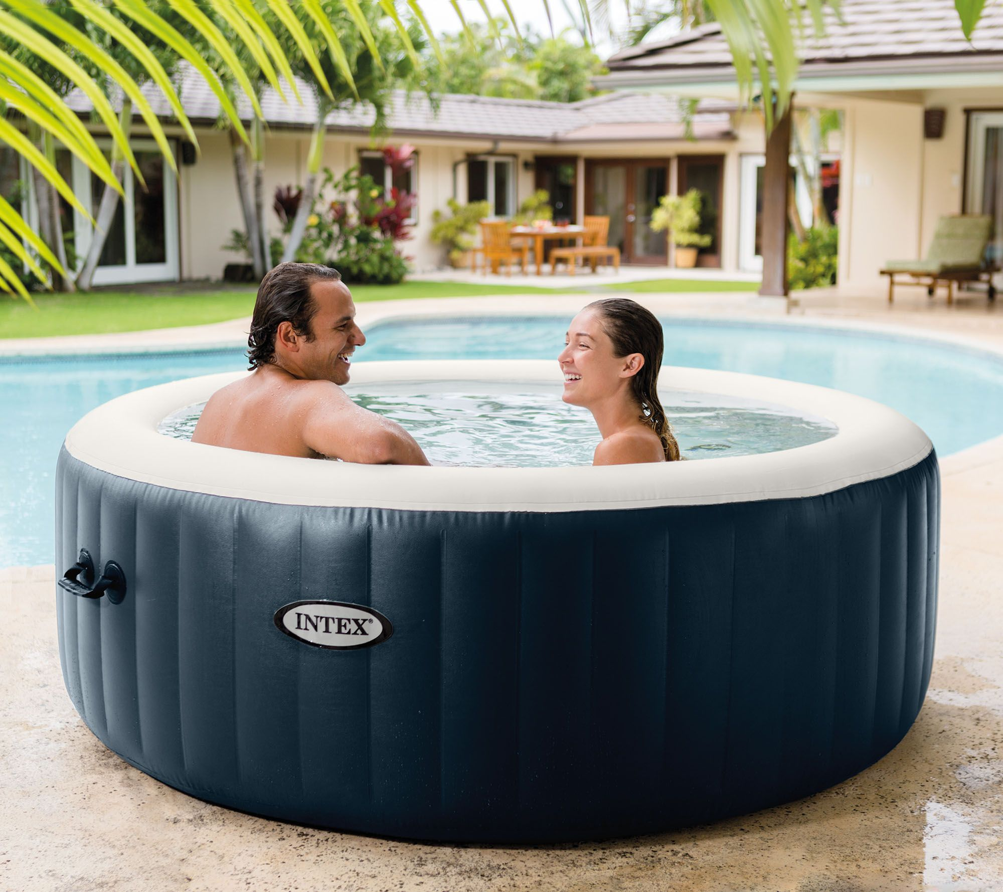 Hottub Led Verlichting Intex Pure Spa Portable Hot Tub W Headrests Extra Filters Qvc
