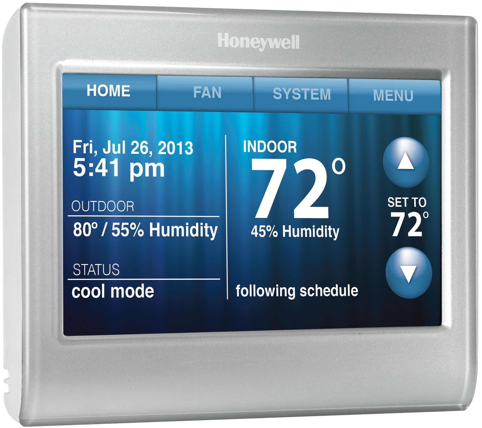 Honeywell Programmable Thermostat Honeywell Wi Fi Smart Thermostat Qvc