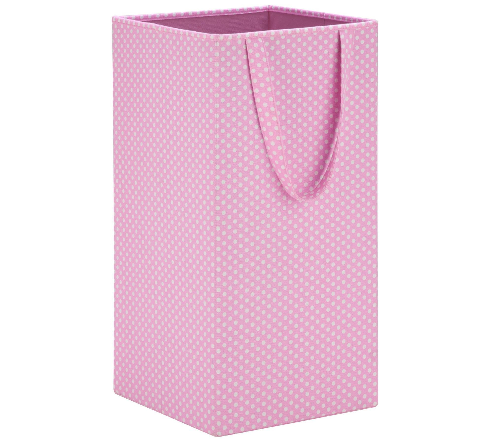 Collapsible Hamper Honey Can Do Pink Rectangular Collapsible Laundry Hamper