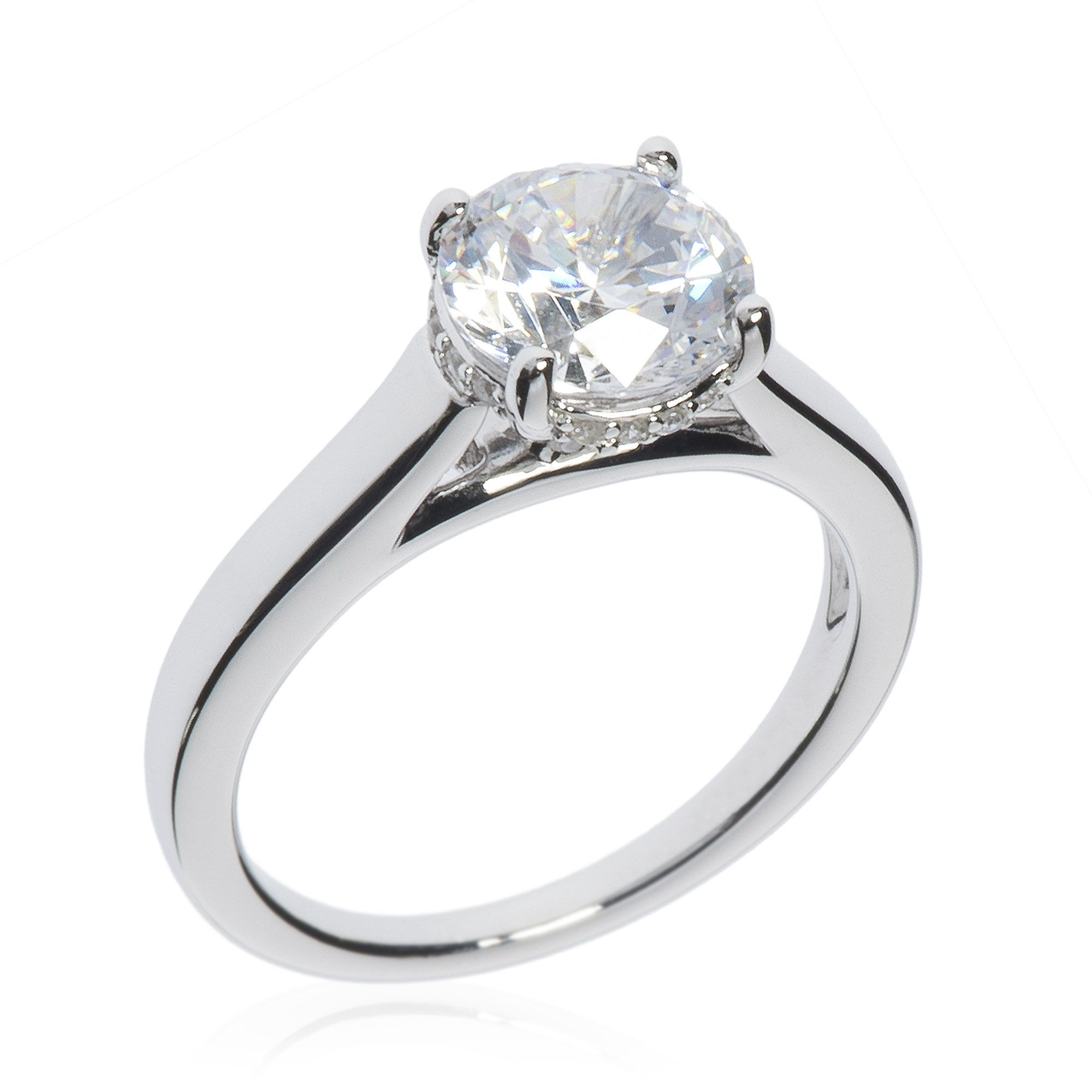 Qvc Stoneline Imagination Diamonique Anello Solitario Pari A 2 08ct In Argento 925