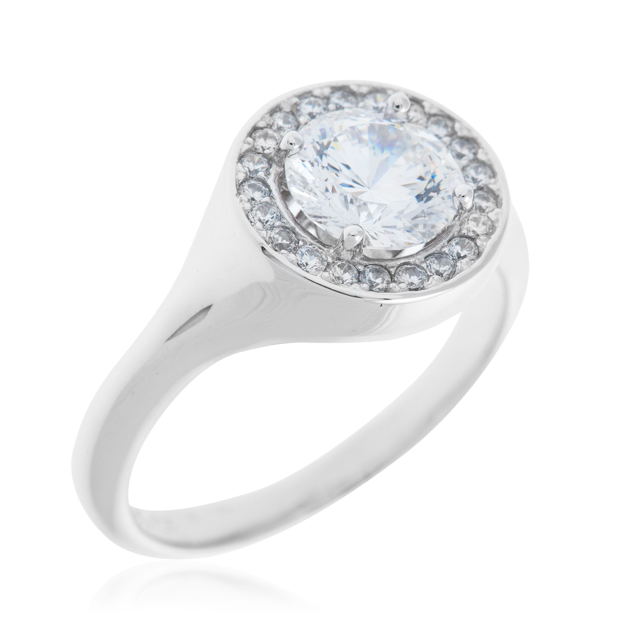 Qvc Stoneline Imagination Diamonique Solaris Anello A Rosone Pari A 1 71ct Qvc Italia