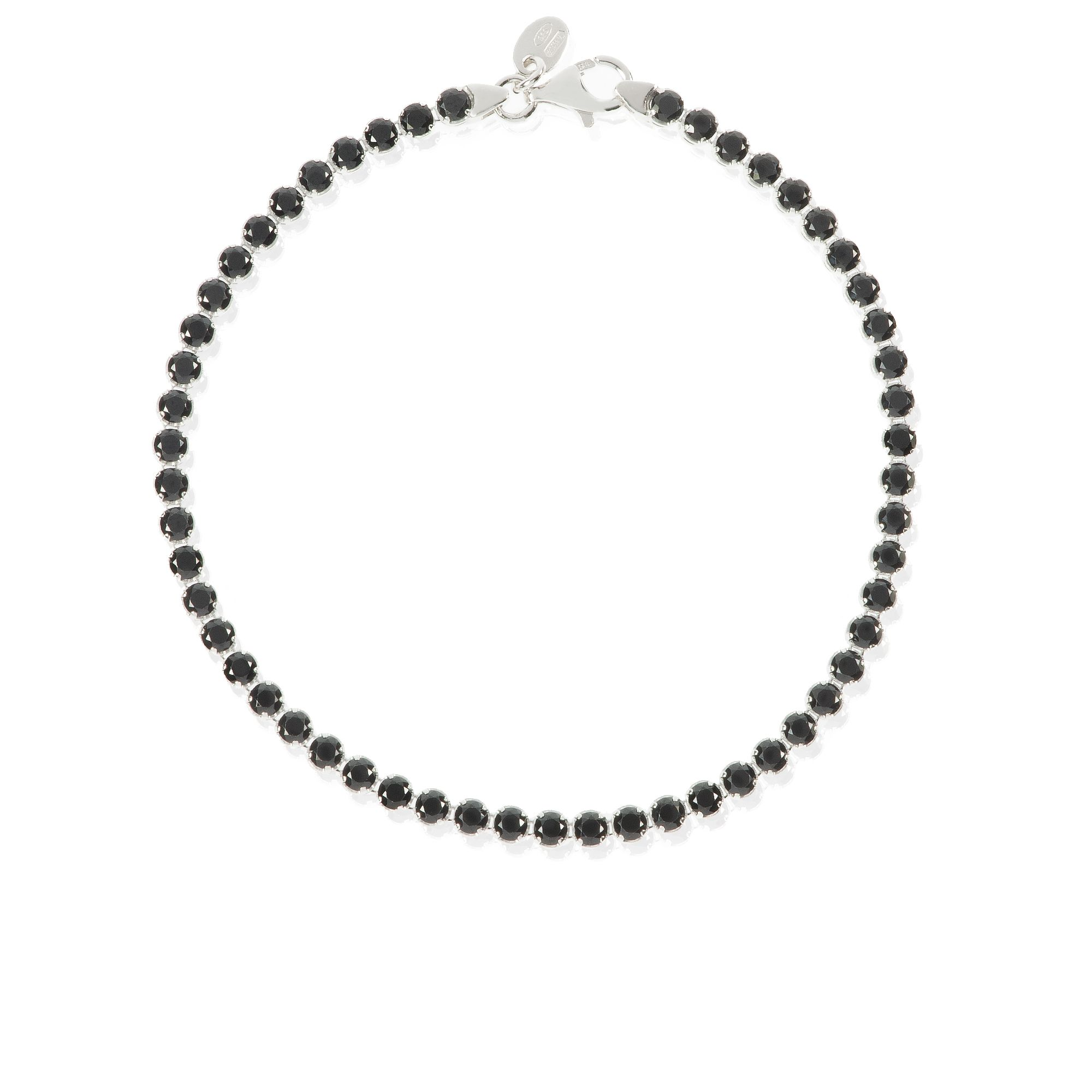 Qvc Stoneline Imagination Midnight Bracciale Tennis In Argento 925 Qvc Italia