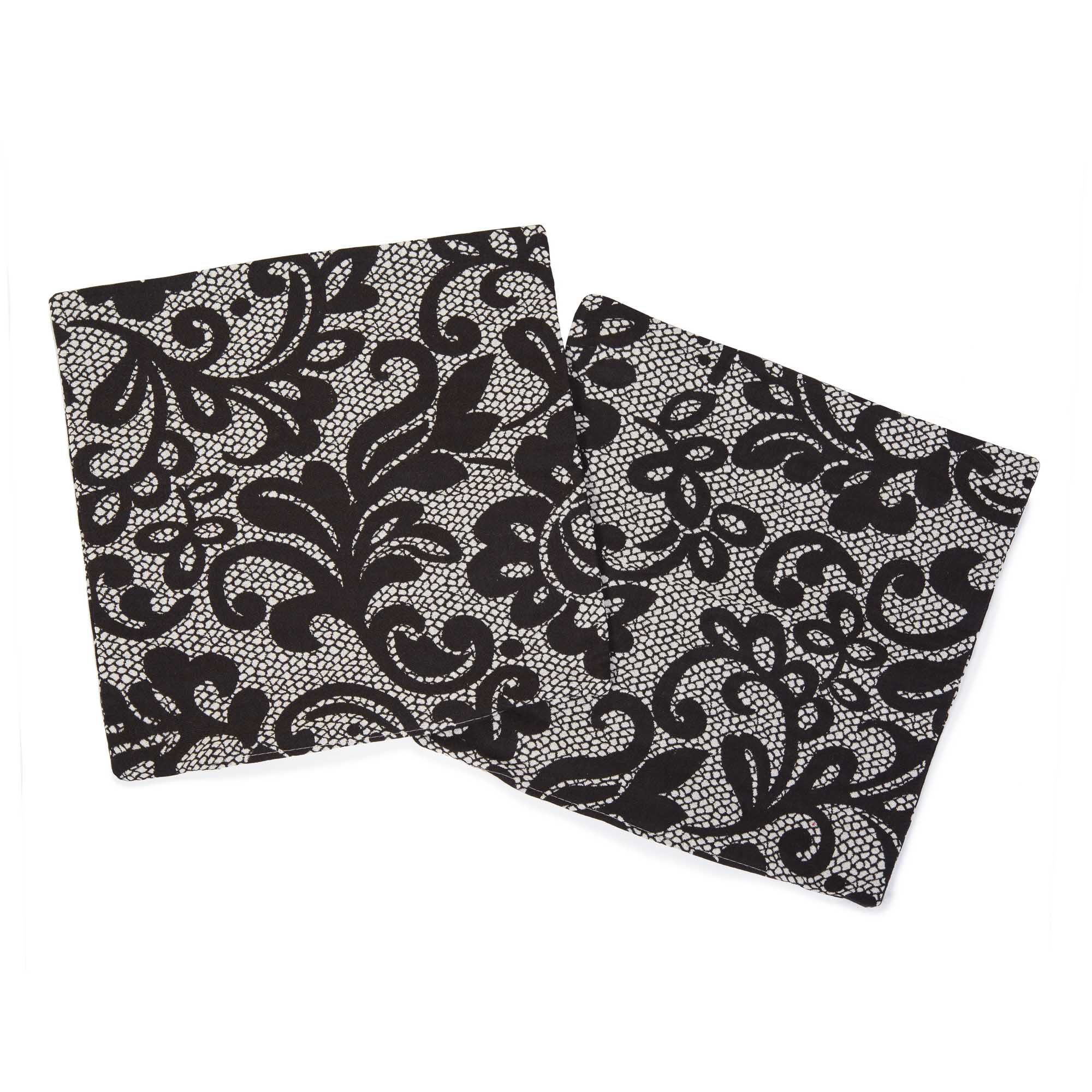 Qvc Stoneline Imagination By Suardi Set 2 Copricuscini Arredo Astrid In Jacquard