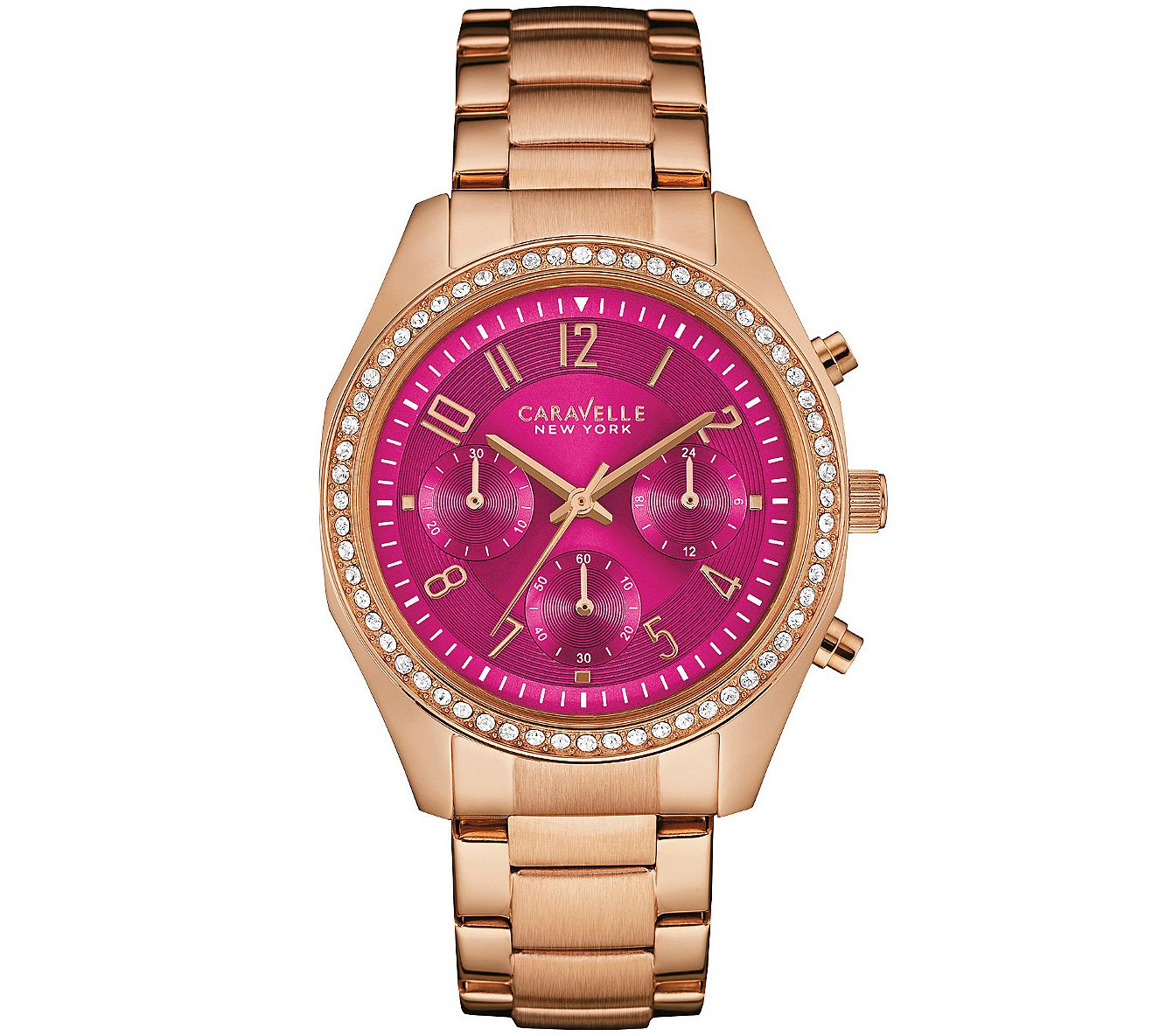 Qvc Bettwäsche Coravelle Caravelle New York Women 39s Watch W Berry Chronograph Dial