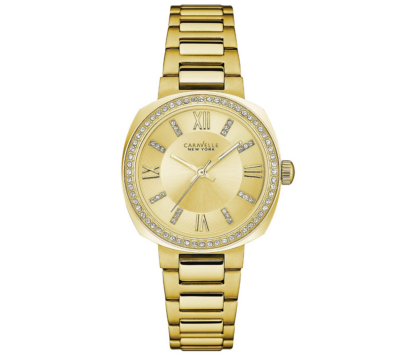 Qvc Bettwäsche Coravelle Caravelle New York Women 39s Goldtone Watch Withchampagne