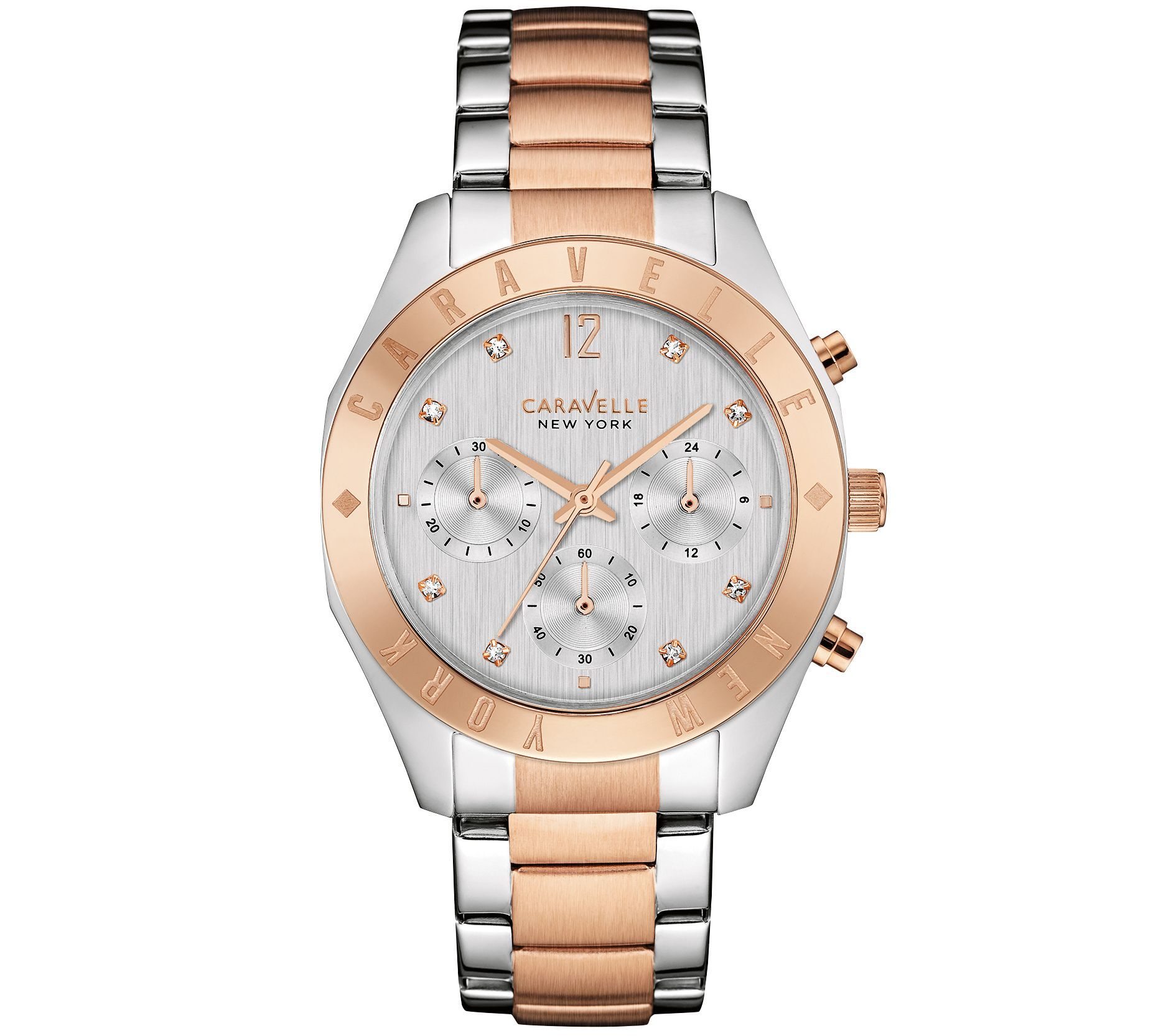 Qvc Bettwäsche Coravelle Caravelle New York Rosetone Women 39s Watch Qvc