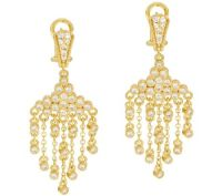 Judith Ripka Sterling & 14K Clad Diamonique Drop Earrings ...