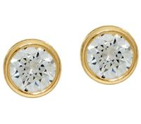 """As Is"" Diamonique 2.00 cttw Bezel Set Stud Earrings, 14K ..."
