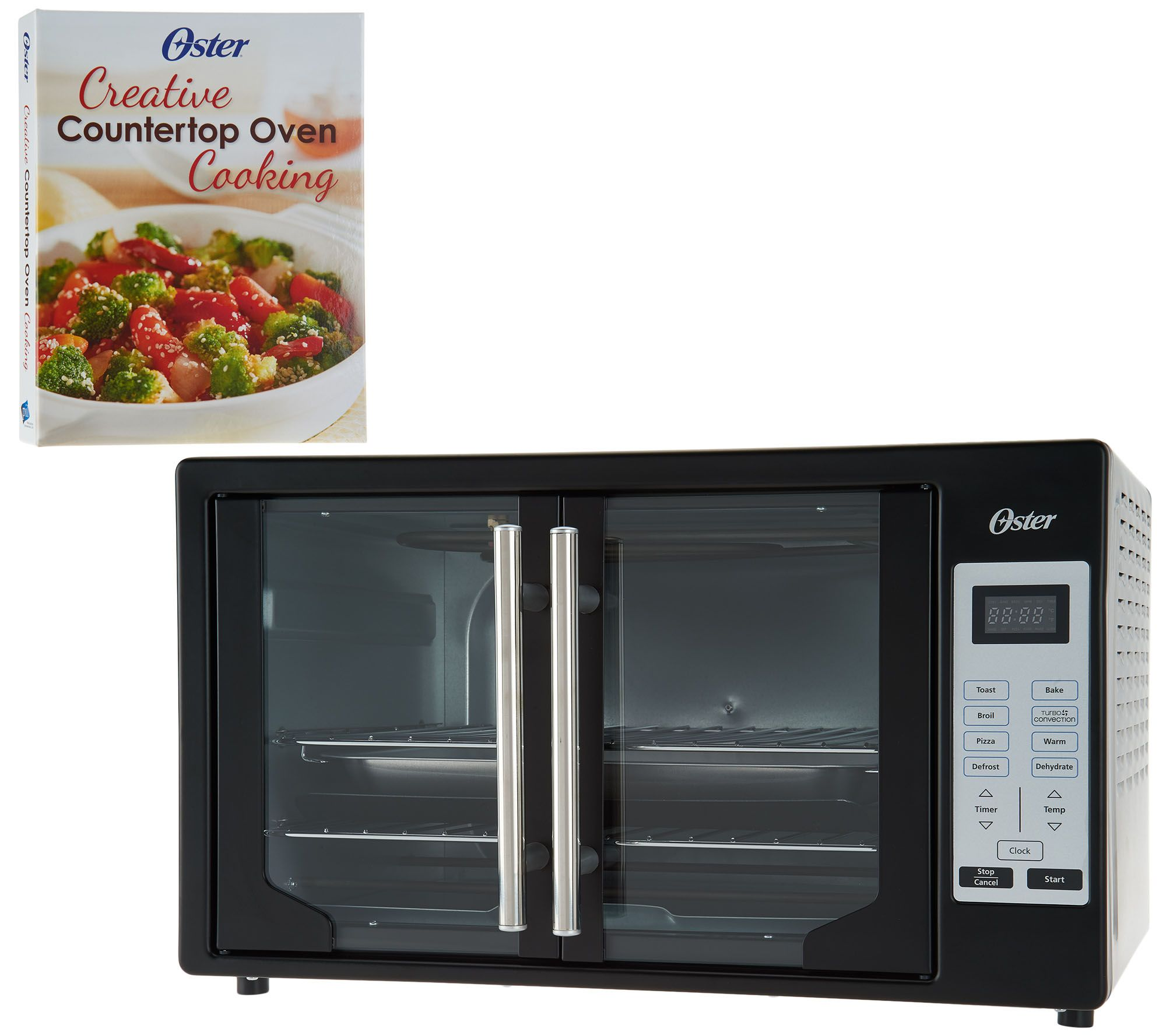Oster Convection Countertop Oven Reviews Oster Xl Digital Convection Oven W French Doors Recipe Book Qvc