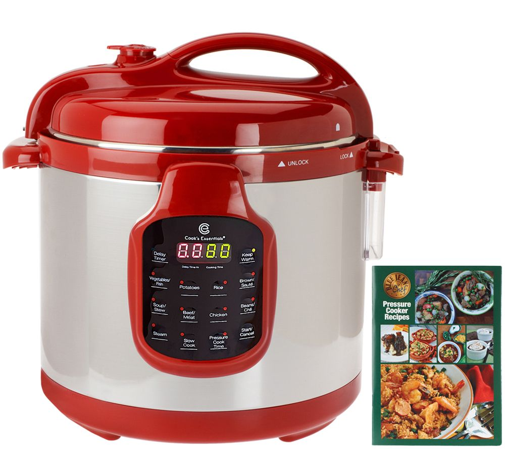 Big W Pressure Cooker Cooksessentials 6 Qt Round Digital Stainless Steel Pressure Cooker Qvc