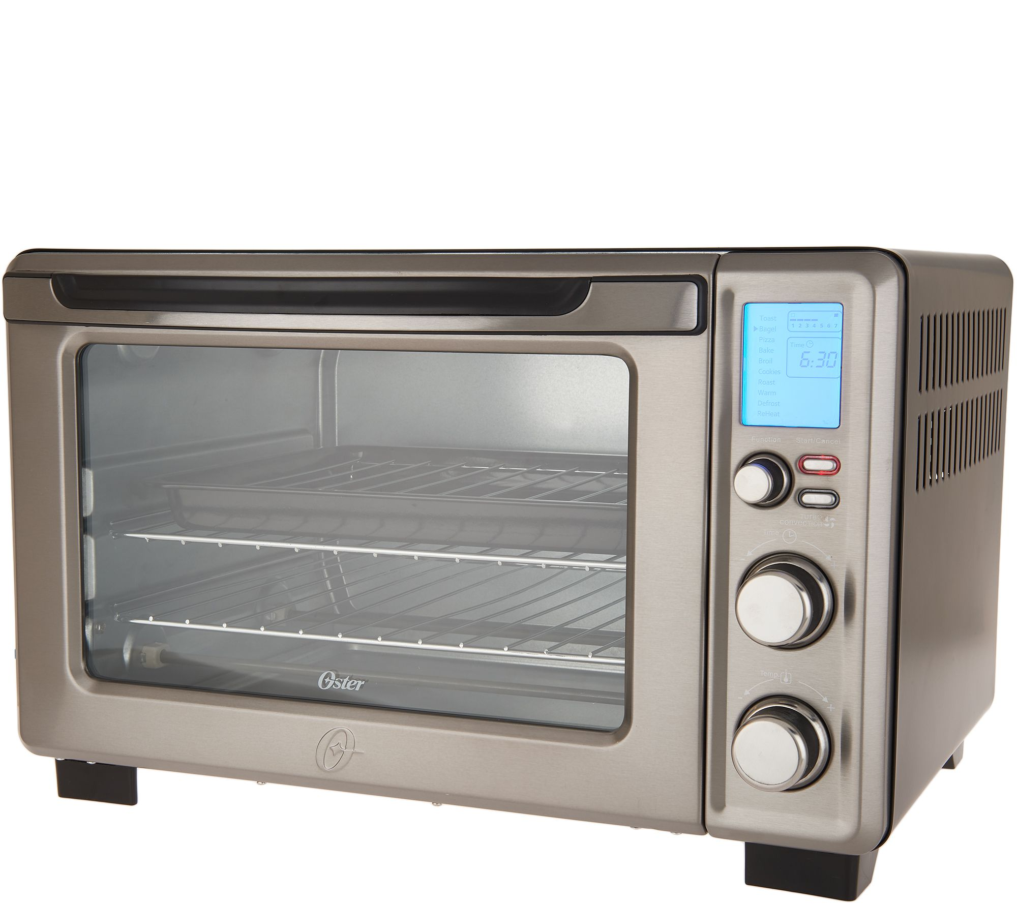 Oster Convection Countertop Oven Reviews Oster Digital Stainless Steel Countertop Oven Qvc