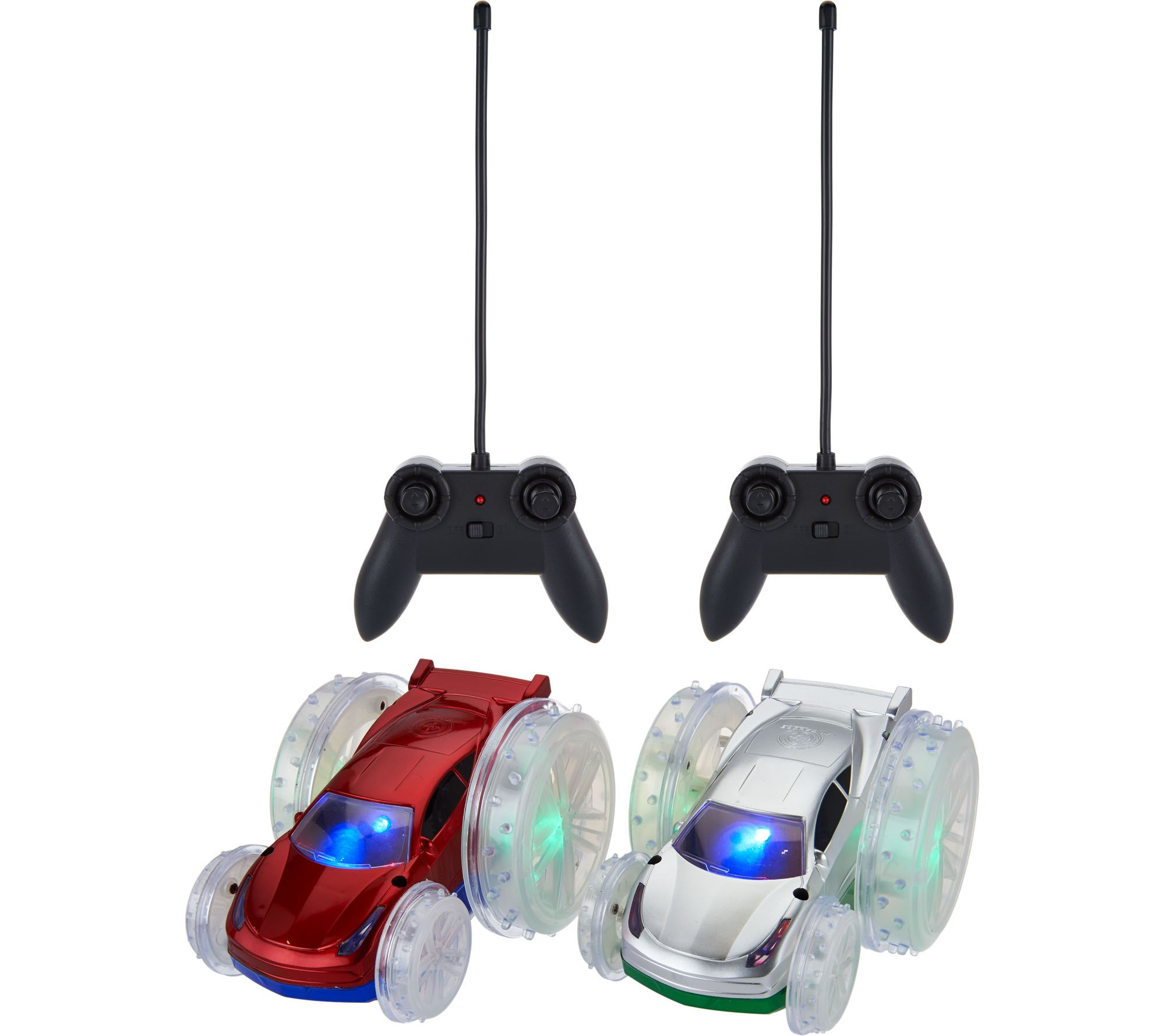 Lit Turbo Set Of Two Turbo Flip Rc Light Up Vehicles Page 1 Qvc