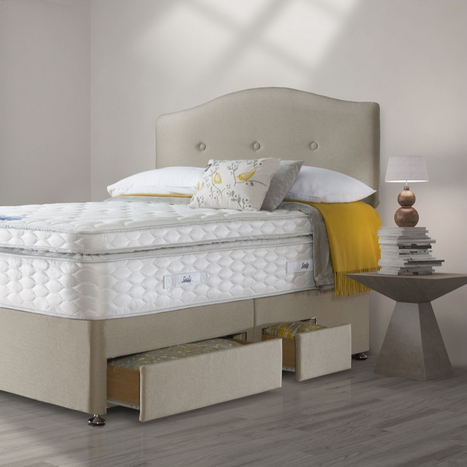 Divan Bed And Mattress Deals Sealy Posturepedic Pocket 1400 Springs Geltex Box Top Mattress