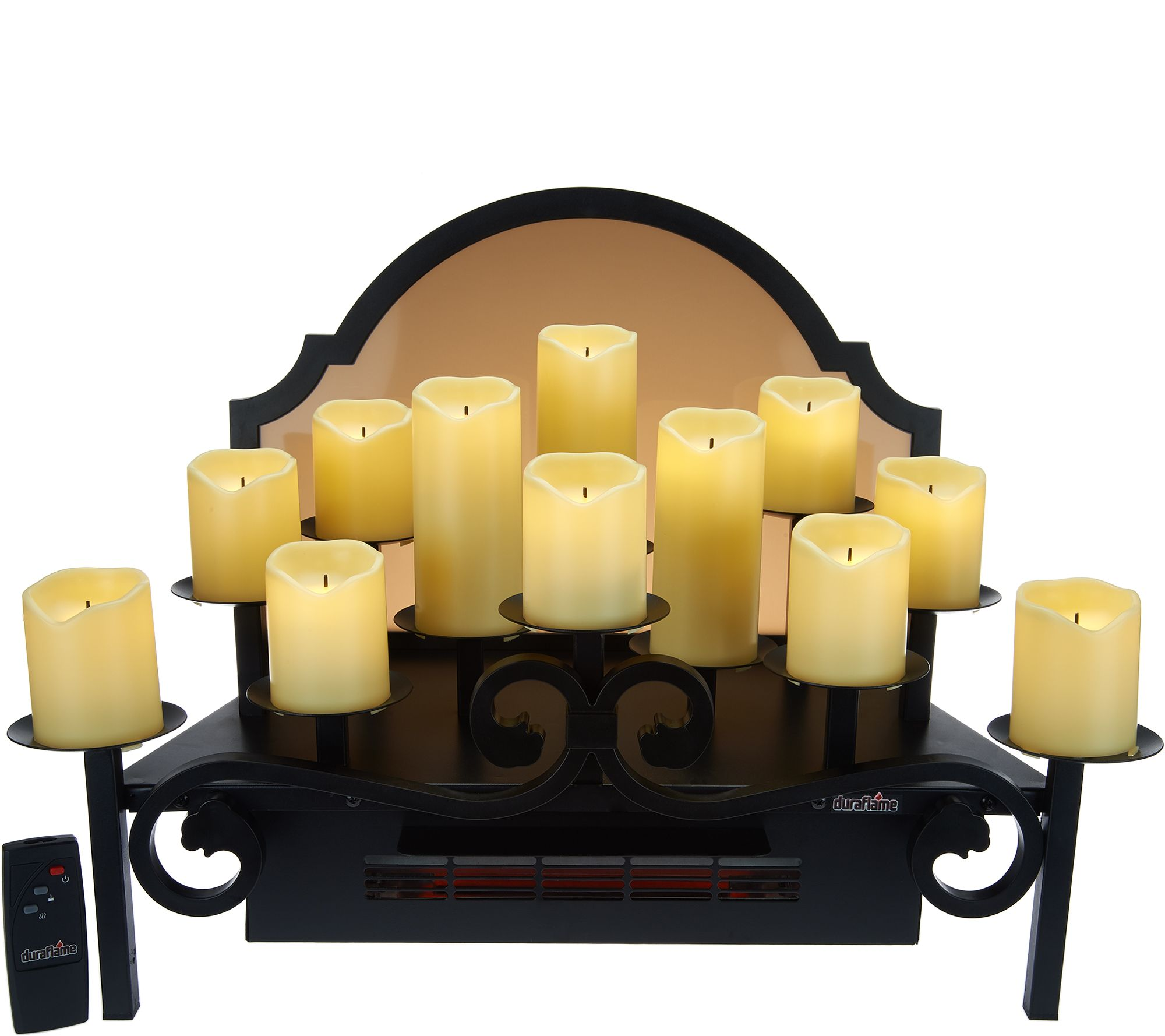 Candles For Fireplace Insert Duraflame Heated Candelabra Fireplace Insert Display Qvc