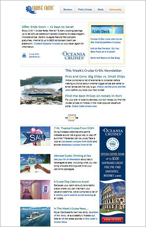 Cruise Newsletter Subscription - Cruise Deals Newsletter - Cruise Critic