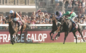 Danedream (AAndrasch Starke) wins the Prix'de l'Arc'de Triomphe