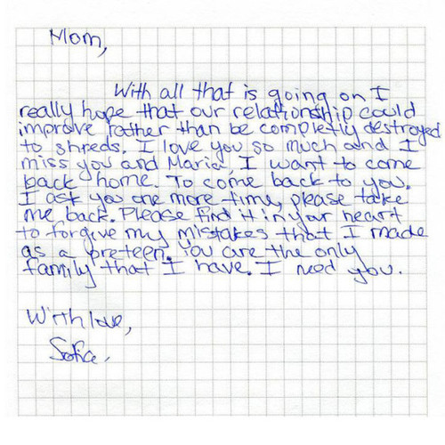 Unruly\u0027 Daughter Sent to Siberia by Parents Finds a New Family - apology letter to family