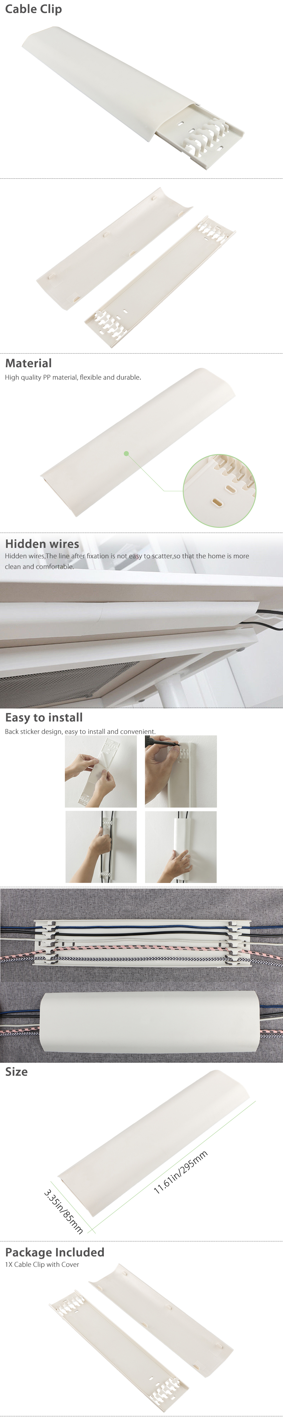 Floor Wire Molding Details About Safe Cable Clip Wire Tidy Cover Hide Management Organizer Fixed Holder Winder
