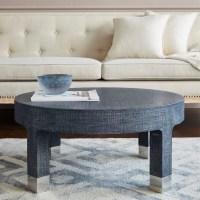 Dakota Round Coffee Table, Navy Blue - Bungalow 5